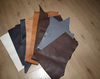1 pound Quality Leather Scraps Leather Scrap bag Scrap Leather Pieces Mixed Leather Pieces Brown Grey Black colours Leather offcuts