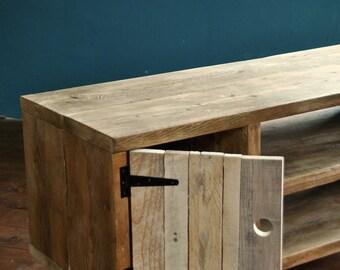 reclaimed wood sideboard steel hairpin legs rustic industrial. Black Bedroom Furniture Sets. Home Design Ideas