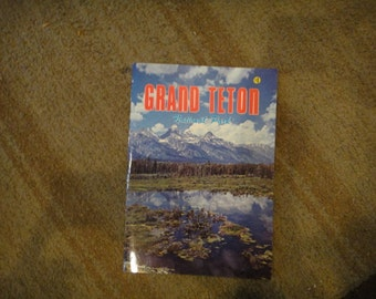 vtg Grand Teton national park book  Wyoming 1950