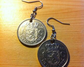 Guilder coin earrings