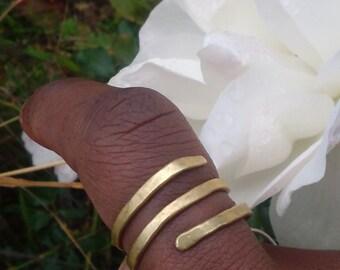 Brass Spiral Ring