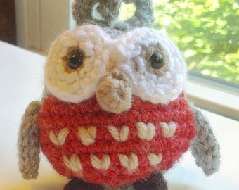 Crochet Amigurumi Owl. Plush Crochet Toy. Mini Crochet Animals. Stuffed Owl. Handmade Crochet.