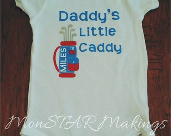 Father's Day Sale! Daddy's Little Caddy Onesie, Fathers day golf, Golf Onesie, Father's Day Outfit, Father's Day Shirt, Personalized Gift