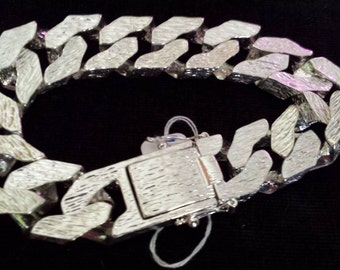 Heavy Gents Sterling Silver Bracelet