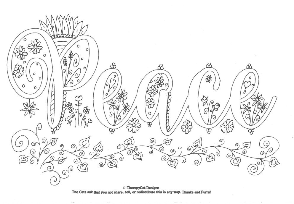 Peace Affirmations Coloring