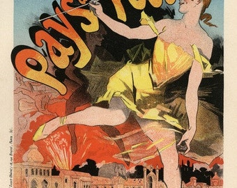 Vintage poster, printable poster, digital download, digital poster, Belle epoque, french poster, old poster, downloadable, high resolution