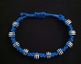Macrame Bracelet Blue and Black