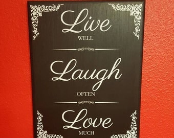 live laugh love wall decal live well laugh often love much. Black Bedroom Furniture Sets. Home Design Ideas