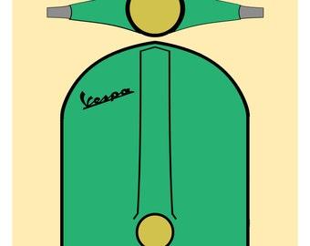 Green Vintage Vespa