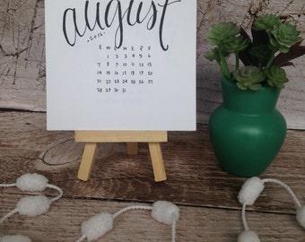 Hand Lettered Desktop 2017-2018 Academic Year Calendar