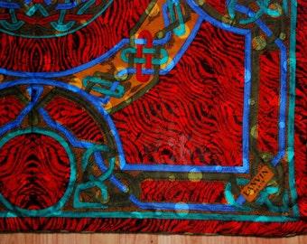 "LANVIN sheer silk jacquard weave scarf 35"""