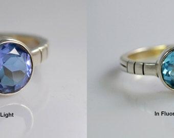 100% Color Change Alexandrite (Zandrite) 925 Solid Sterling Silver Handmade Ring All Custom Sizes 3-14 (US)
