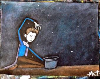 Practicing Magic ~ Original Acrylic Painting by LeanneM ~
