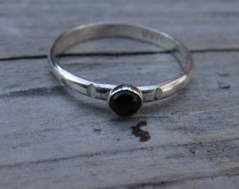 Black Onyx Sterling Silver Ring