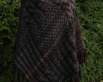 PONCHO * knit PONCHO * WINTER PONCHO * Cape * wool * Merino * Aran * handmade