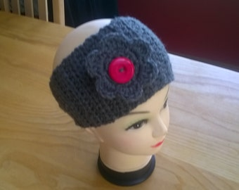 Ladies Headband with detachable Flower Brooch