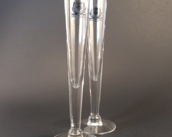 Vintage Fluted George and J. G. Smith Cordial Glasses - Pair