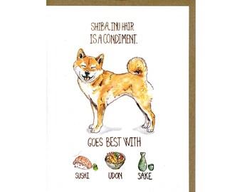 Shiba Inu Dog Greeting Card - Funny Dog Card - Shiba Inu Gifts - Shiba Dog