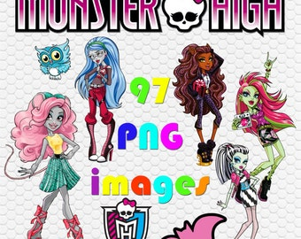 97 Digital Download Clip Art Monster High