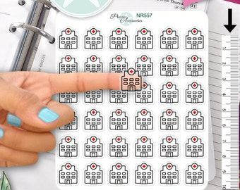 Clear Hospital Stickers Medical Stickers Doctor Stickers Planner Stickers Erin Condren Functional Stickers Decorative Stickers NR557