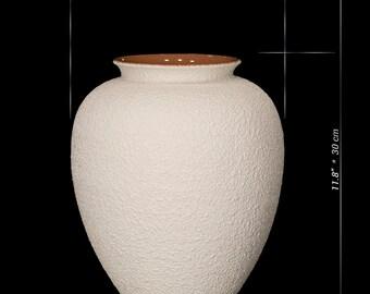 Ceramic Table Vase / Large Flower Vase /  Ivory White Vase / Vase Pottery / Home Decor Gifts / Handmade Stoneware Vase