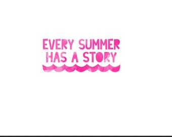 every summer has a story pink watercolor clip art svg dxf file instant download silhouette cameo cricut digital scrapbooking