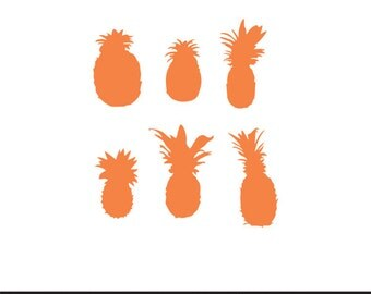 pineapple stencil svg dxf file instant download silhouette cameo cricut clip art commercial use