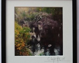 Nature - Signed & framed - Cristian Lafertte (21.5 x 21.5 cm)