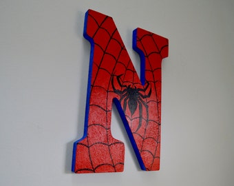 "SpiderMan 9"" Hand-Painted Wall Letters"