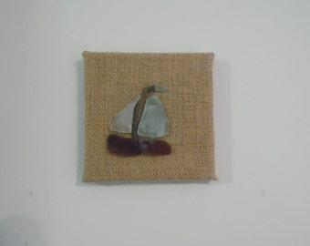 Simple Sea Glass Sailboat