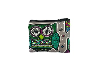 Olmos Park Owls Coin Bag // Change Purse // Pouch