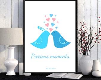 Scandinavian poster, Illustration children, Kids room wall decor, Nursery art printable, Baby nursery art, Illustration print, Art print
