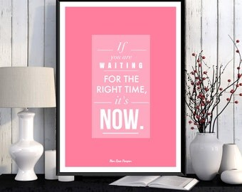 Inspirational quote, Positive poster, Positive quote wall, Positive art quote, Gift idea, Typography print, Instant download, Home decor