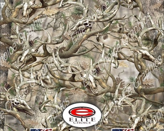 "Obliteration Buck Deer Tree Camo 15""x52"" or 24""x52"" Truck/Pattern Print Tree Real Camouflage Sticker Roll or Sheet"