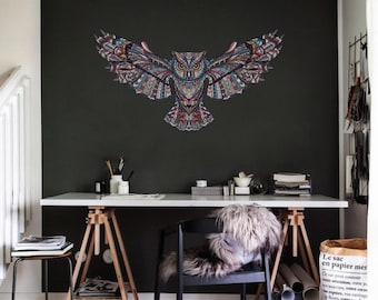 Owl Wall Decal | Removable Wall Decal | Vinyl Wall Sticker- OW012