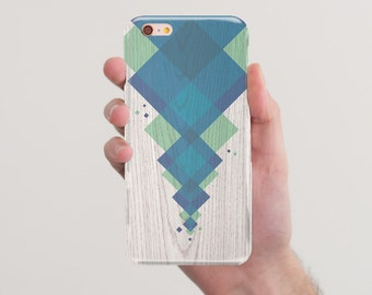 Case iPhone 6 Case iPhone 6s Case iPhone 6s Plus Cover Samsung Galaxy S5 Case Samsung Galaxy S6 Case Geometric Case Blue White Print Wooden