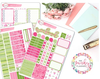 Weekly Planner Sticker Kit for use with ERIN CONDREN LIFEPLANNERTM // Watermelon Planner Sticker Kit // Summer Planner Sticker Kit