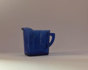 Cobalt Blue Rectangular Pitcher