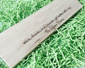 Personalized Cheese Board, Personalized Wedding Gift, Housewarming Gift, Anniversary Gift, Personalized Cheese Board Wood, Custom Engraved