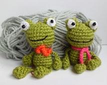 Crochet Frog Amigurumi Green Frog Toy Boy Gift Crochet Toy amigurumi toad plush Keychain toys gift for boy stuffed Animals  plush