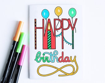 Birthday Card Kids Printable, Cards Coloring, Birthday Cards, Young Adult Birthday Cards, Coloring Cards, Children Birthday Cards