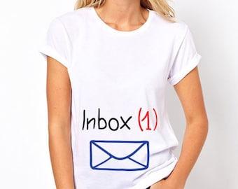 Inbox | Funny Maternity Shirts | Summer Maternity Clothes | Funny Pregnancy Clothes by MaternityAndBabyTops