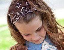 Girl's Wrap Bandana Brown Girls Bandanna Brown Bandana Headband Cotton Head Wrap No Slip Headwrap Wide Hair Band (#4003)