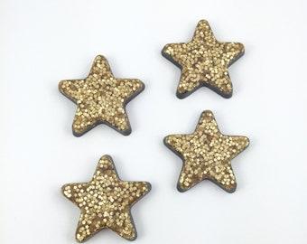 Star Magnets | Dorm Decor | Office Magnets | Locker Magnets | Gold Star Magnets | Set of 4 Large Magnets | Fridge Magnets | Stocking Stuffer