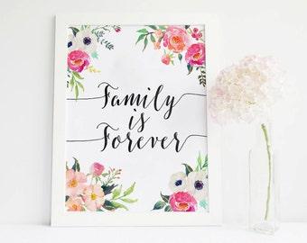Family Is Forever Quotes Prepossessing Family Is Forever  Etsy