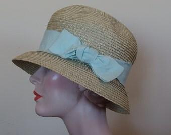 1990s Cloche style Platania Straw Hat