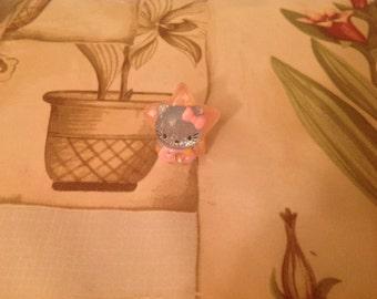 Kitten Star Ring- Kawaii, Fairy Kei