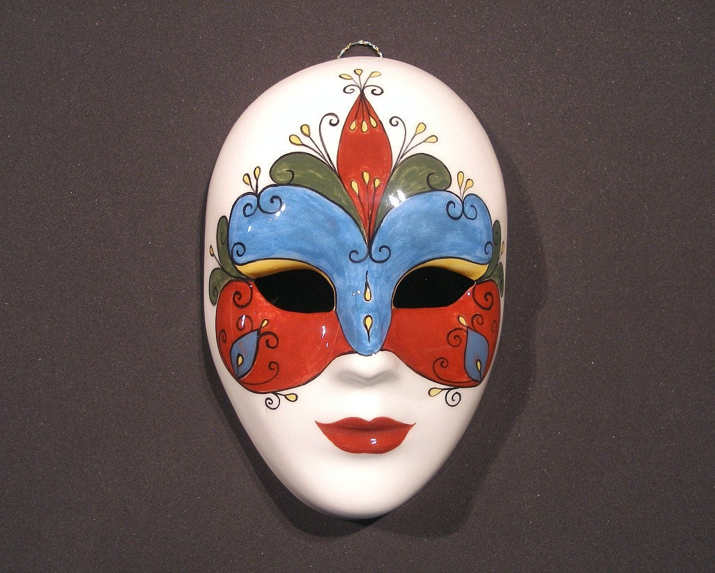 Ceramic Mask Venetian Mask Mask Decor Hand Painted Mask