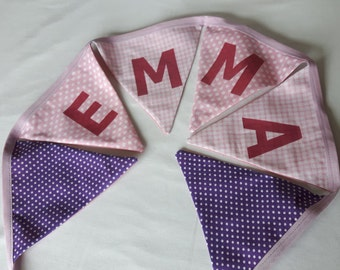 Personalised Bunting for Girl or Boy (Double sided)