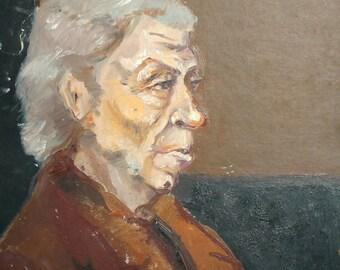 Vintage oil painting portrait